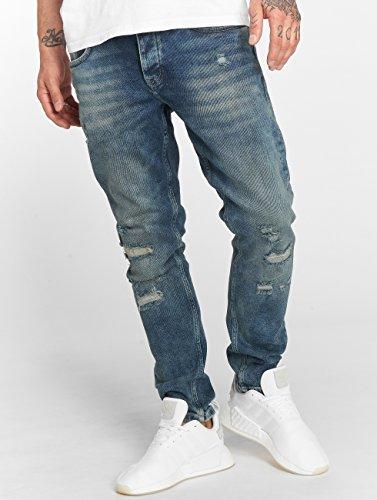Hombres Azul DEF Jeans Ajustado Vaqueros Burt vSWq80W