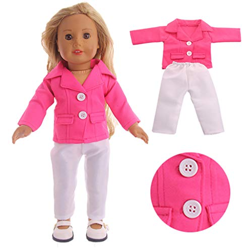 FIged Kids Toys, Two-Piece Doll Clothes Coat Lovely Suit for 18 inch Baby Doll Clothes Outfits Kids & Children Toy Gifts