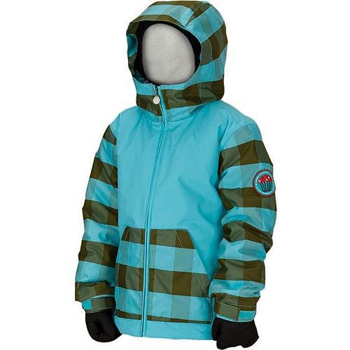 Bonfire Luna Jacket - Girls' Glass/Glass/Herb, S by Bonfire Snowboarding