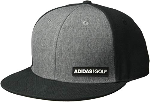 adidas Golf Heather Flatbill, Black, One Size