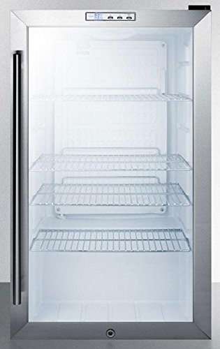 Summit SCR486L Beverage Refrigeration, Glass/Black