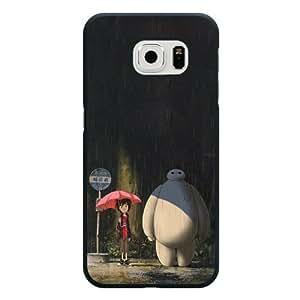 Galaxy S6 Case, Customized Black Hard Plastic Galaxy S6 Case, Big Hero 6 Baymax Galaxy S6 Case(Not Fit Galaxy S6 Edge)
