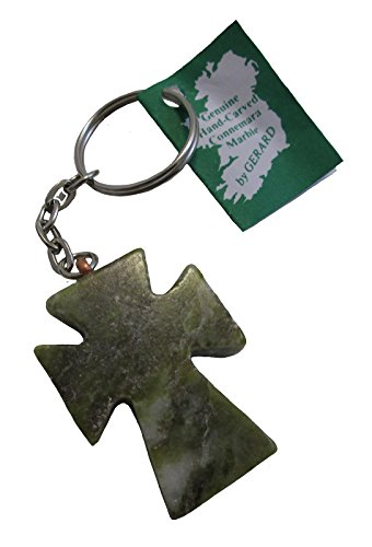 Connemara Marble Irish Cross Keychain