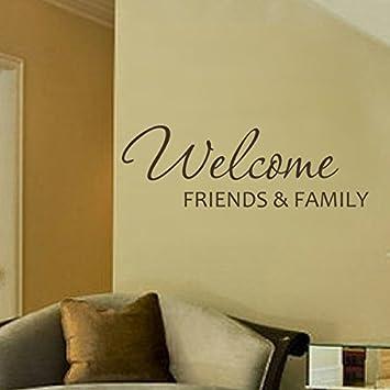 Mairgwall Willkommen Freunde Und Familie Vor Tür Aufkleber
