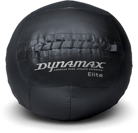 Dynamax ELITE 8lb Soft-Shell Medicine Ball Black/Black by Dynamax