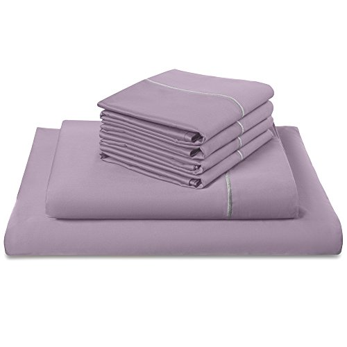 (Luxomere 100% Cotton Bed Sheet Set – ULTRA SOFT 800 Thread Count Sateen Luxury Hotel Quality Bedding - 6 Piece Wrinkle & Fade Resistant Bedspreads (Queen, Orchid))