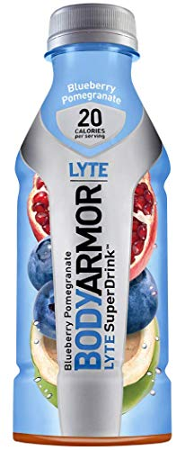(BODYARMORLYTE Sports Drink Low-Calorie Sports Beverage,Blueberry Pomegranate, Natural Flavors With Vitamins, Potassium-Packed Electrolytes, No Preservatives, Perfect For Athletes, 16 Fl Oz, Pack of 12)