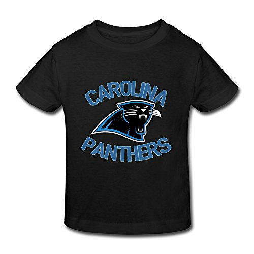 Black Ambom Carolina Panthers Little Boys Girls T Shirt For Toddler Size 5-6