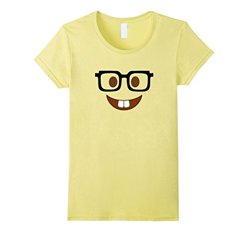 Womens Nerd Halloween Costume Shirt Group Couple Best Friends Gift Medium Lemon