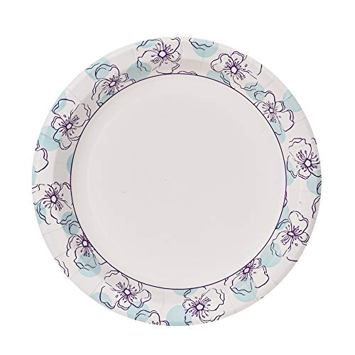 (Glad Round Disposable Paper Plates for All Occasions | New & Improved Quality | Soak Proof, Cut Proof, Microwaveable Heavy Duty Disposable Plates | 10