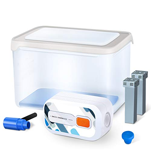 CPAP Cleaner and Sanitizer Supplies with Big Sanitizer Box, Adapter for Cleaner and Sanitizing Machine for Hose(Save 50% Time When Cleaning ALL Simultaneously),Cleaner and Sanitizer Bundle Accessories