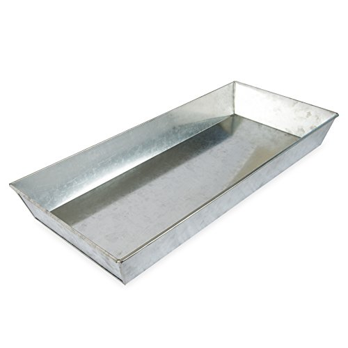 e Galvanized Steel Rectangular Plant Tray- 29 in (Metal Rectangular Tray)