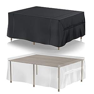 cinsey Funda para Muebles de Jardín Rectangular Impermeable Funda para Mesas y Sillas al Aire Libre 420D Oxford -242 * 182 * 100cm