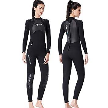Traje de Neopreno Mujer Traje de Surf de 3 mm Completo Buceo ...