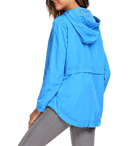 Casual Para Y Cremallera Mujer Aire Impermeable Joven Al Blau x0611P
