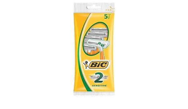 BIC 2 Sensitive afeitadora unidades 5 (Pack de 5): Amazon.es: Belleza