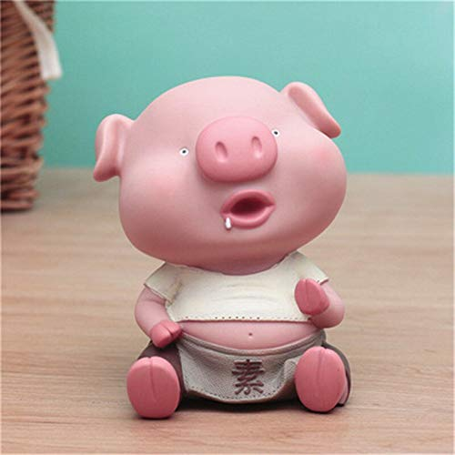 Viet JK Figurines & Miniatures - Cute Pig Money Box Figurine Animal Piggy Bank Statues Silicone Art&Craft Home Decorations Creative Gift R385 - by GTIN - 1 Pcs - Pig Buddha Statues ()