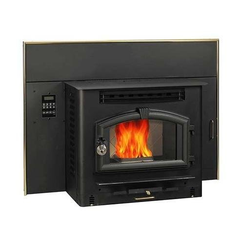 6041I 60 lbs Hopper Capacity Multi Fuel Stove Insert with Large Viewing Window Air Wash Glass and Igniter