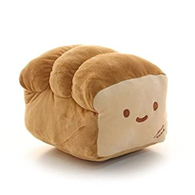 "BREAD 6"", 10"", 15"" - By Cotton Food -Plush Pillow Cushion Doll Toy Gift Home Bed Room Interior Decoration Girl Child Gift Cute Kawaii from Cotton Food"