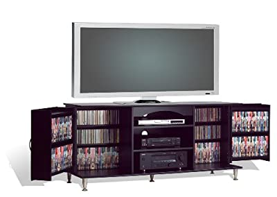 Prepac 60-inch Plasma Tv Console With Media Storage Black from Prepac