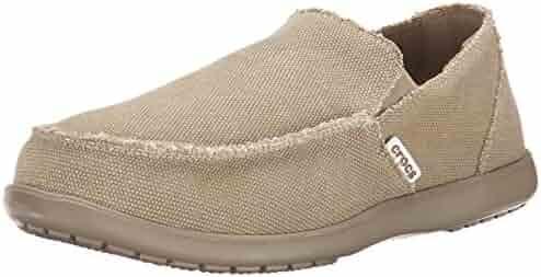 Crocs Men's Santa Cruz Loafer | Casual Comfort Slip On | Lightweight Beach or Travel Shoe