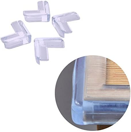 Pare-brise transparent /Écran de protection transparent pour enfants Enfant Prot/ège meubles Broadroot Lot de 4 coins de table pour b/éb/é