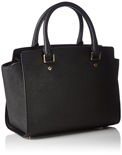 Michael Kors Selma Medium Top-Zip Satchel, Bolso maletín para Mujer, Negro (Black), 10.16x20.3x33 Centimeters (B x H x T): Amazon.es: Zapatos y complementos