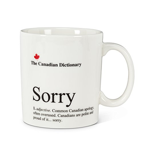Abbott Collection 27-CD Sorry Canadian Dictionary Mug,