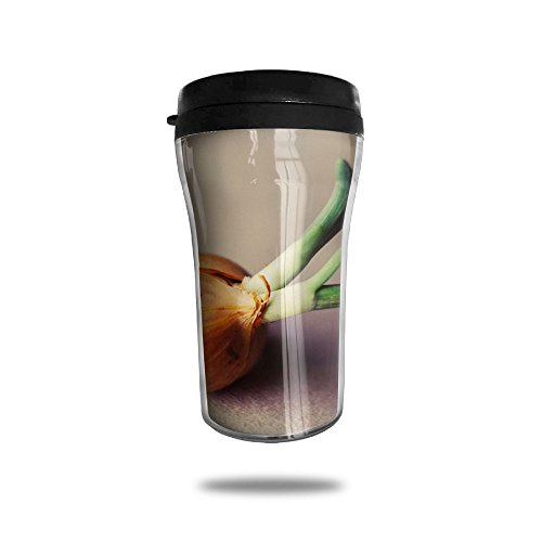 FTRGRAFE Fresh Onion Plant Vegetable Travel Coffee Mug 3D Printed Portable Vacuum Cup,Insulated Tea Cup Water Bottle Tumblers For Drinking With Lid 8.54 Oz (250 Ml)
