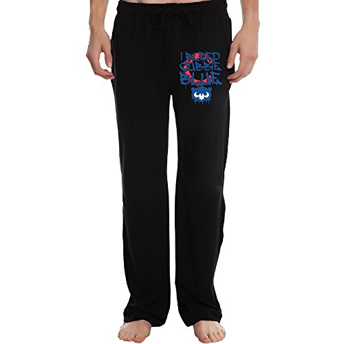 Men's Athletic Sweatpant - Bleed Cubbie Blue Casual Long Pant With Pockets For Workout Gym Running Black XX-Large