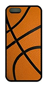 Basketball Skin Pattern Theme Case for iPhone 6 plus Rubber Material Black