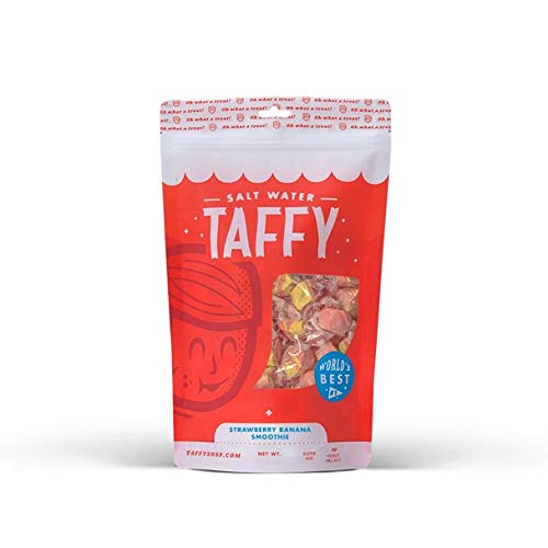 Taffy Shop Strawberry Banana Smoothie Salt Water Taffy - 1/2 LB Bag