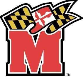4 inch University of Maryland Terps UM Terrapins Logo Removable Wall Decal Sticker Art NCAA Home Room Decor 4 by 3 1/2 inches