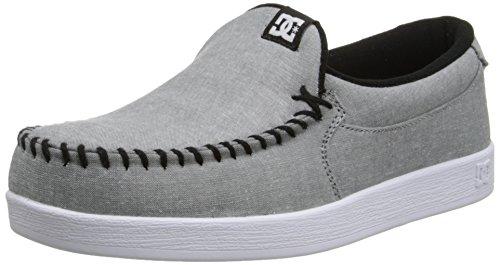DC Men's Villain TX Skate Shoe, Light Grey, 10 D US