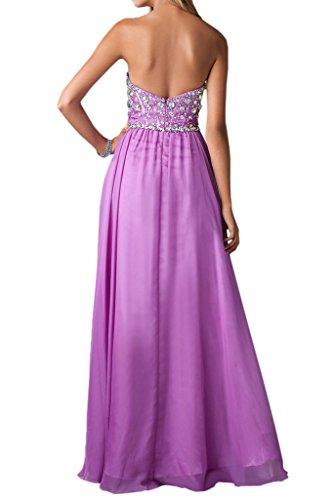 Chiffon Lang Linie Lila Damen Schlitz Promkleid Abendkleid Ivydressing Festkleid Ballkleider A SxqXaRHw