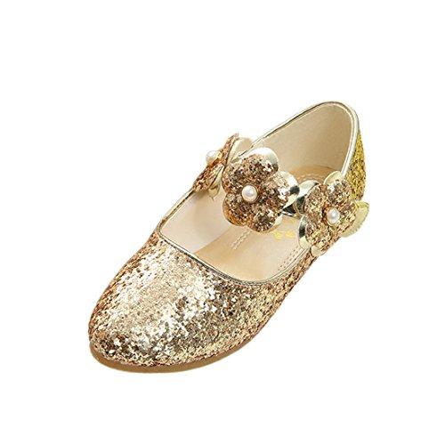 HBOS Prinzessin Schuhe Mädchen Asakuchi Blume Helle Schuhe Student Tanz Prinzessin Shoes Gold