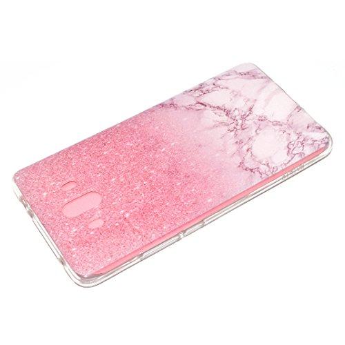 Funda Huawei Mate 10 LITE Carcasa Suave TPU Oududianzi Funda Transparente Claro Crystal Bling Case Soft Silicone Case Cover Caso Anti Rasguños Anti Choque Carcasa Protectora Funda protectora de silico Mármol