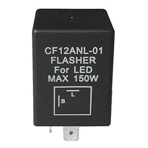 TOOGOO CF12ANL-01 Flasher LED MAX 150W 2-Pin Car Motorcycle Flasher Relay 181607