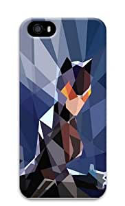 Blocky Catwoman Polycarbonate Hard Case Cover for iPhone 5/5S 3D