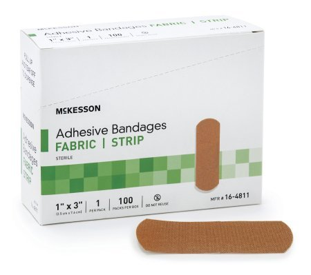 "Mckesson Medi Pak Performance Bandage Adhesive Fabric Knuckle 1.5""x3"" Latex Free, 4.2 Ounce"