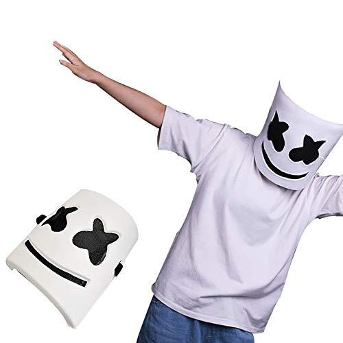 memorytime Cool DJ Marshmello Full Face Mask Plastic Music Bar Concert Cosplay Party Prop Novelty & Gag Toys -