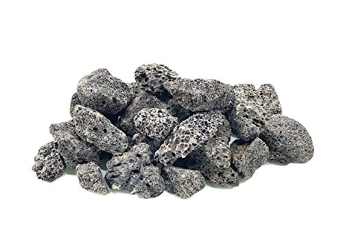 Executive Deals All Natural Lava Rocks for Gas Fire Pits/Fireplace/Grills/Barbecues - 3/4