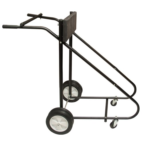 Best Choice Products 315lb Outboard Boat Motor Carrier, Cart, Dolly, Stand - Black