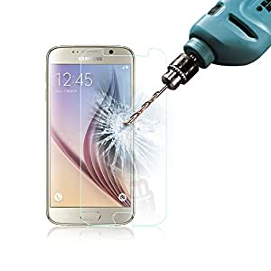 Galaxy S6 Screen Protector, Poweradd Samsung Galaxy S6 Blue Light Filtering Tempered Glass Screen with Eye-Protective and Lifetime Hassle-free Warranty for Galaxy S6 (NOT for S6 Edge) - Retail Packaging