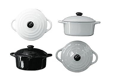 "6"" Round Stoneware Mini Personal Casserole Baker w/Lid-4 Colors"