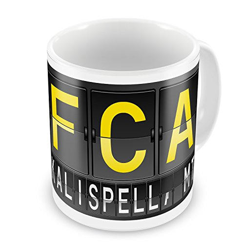 Coffee Mug FCA Airport Code for Kalispell, MT - NEONBLOND for sale  Delivered anywhere in USA