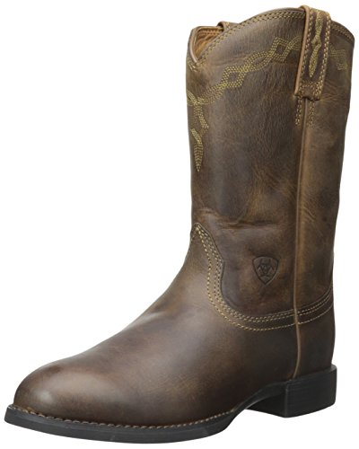 Ariat Men's Heritage Roper Western Cowboy Boot, Distressed Brown, 11.5 D US