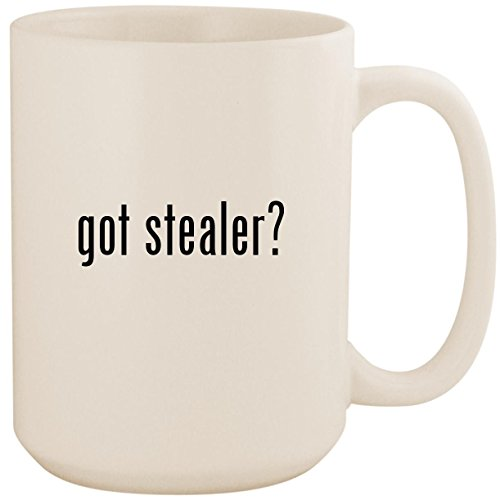 got stealer? - White 15oz Ceramic Coffee Mug Cup