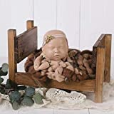 Baby Photography Bed Baby Photo Props White Wood