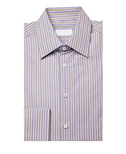 Prada Men's Striped Cotton Dress Shirt - Men Prada For Clothes